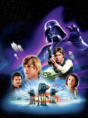 Hope Digital Art - Star Wars Episode V - The Empire Strikes Back 1980 by Unknow