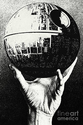 Death Star Digital Art - Star Wars - Escher Death Star by Luca Oleastri