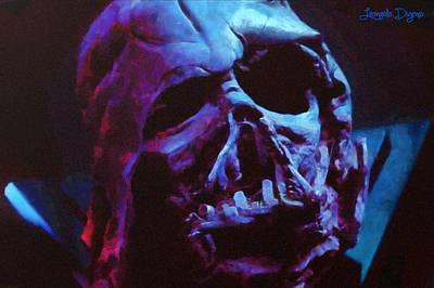 Stars Painting - Star Wars Ex-darth Vader by Leonardo Digenio