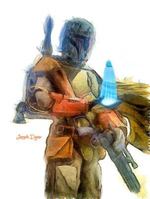 Rays Digital Art - Star Wars Execute The Order  - Pencil Style -  - Da by Leonardo Digenio