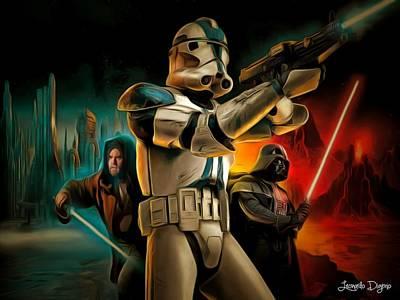 Star Wars Fighters Art Print