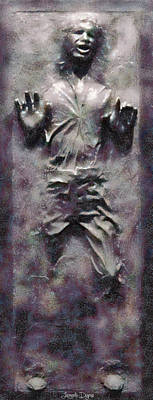 Adult Digital Art - Star Wars Han Solo Frozen In Carbonite - Da by Leonardo Digenio