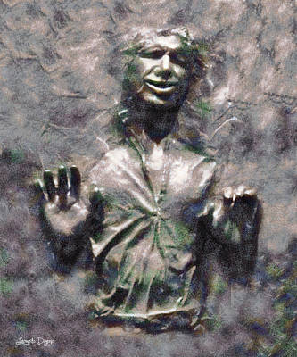 Empire Digital Art - Star Wars Han Solo In Carbonite - Da by Leonardo Digenio