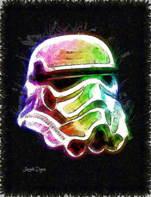 Movie Digital Art - Star Wars Helmet - Da by Leonardo Digenio