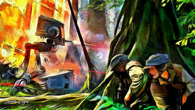 Forest Digital Art - Star Wars Hot Times - Da by Leonardo Digenio