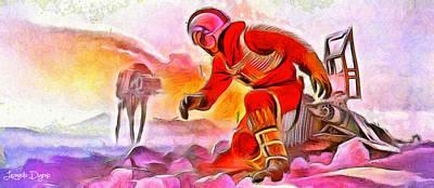 Battle Tank Digital Art - Star Wars It Is Coming - Da by Leonardo Digenio