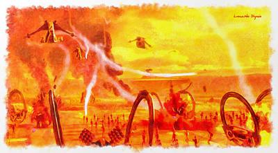 Explosion Digital Art - Star Wars Last Jedi Battlefield - Da by Leonardo Digenio