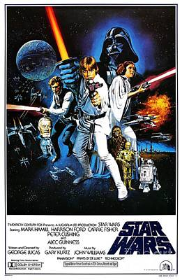 Star Wars Photograph - Star Wars Movie Poster by The Titanic Project