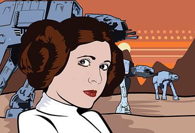 Caricature Digital Art - Star Wars Pop Art by Sandi Fender