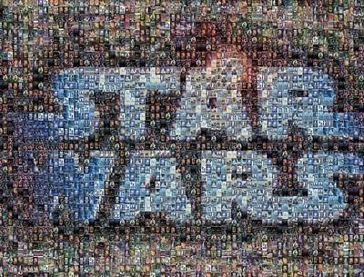 Star Wars Posters Mosaic Art Print by Paul Van Scott