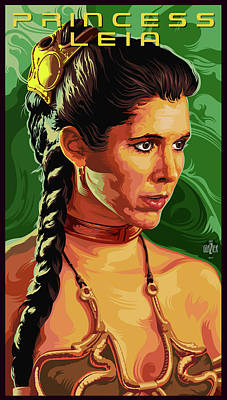 Star Wars Princess Leia Pop Art Portrait Original
