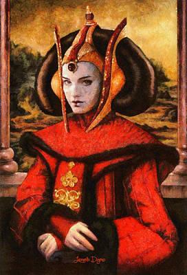 Star Wars Queen Amidala Classical Art Print by Leonardo Digenio