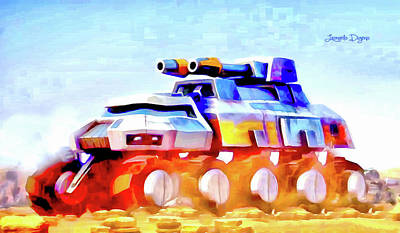 Star Wars Rebel Army Armor Vehicle - Aquarell Vivid Style Art Print