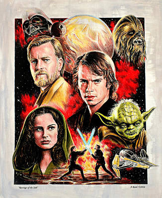 Science Fiction Royalty-Free and Rights-Managed Images - Star Wars Revenge of the Sith by Andrew Read