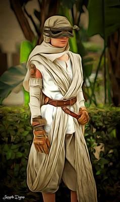 Stormtrooper Painting - Star Wars Rey 2 by Leonardo Digenio