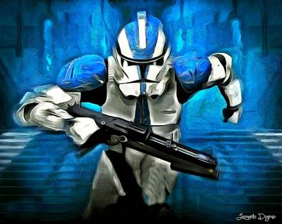Running Digital Art - Star Wars Running - Da by Leonardo Digenio