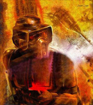 Remote Painting - Star Wars Sabotage - Da by Leonardo Digenio