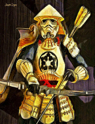 Breastplate Painting - Star Wars Samurai Trooper - Pa by Leonardo Digenio