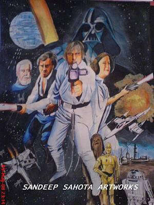 Intezaar Painting - Star Wars by Sandeep Kumar Sahota