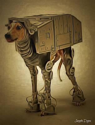 Combat Painting - Star Wars Secret Weapon by Leonardo Digenio