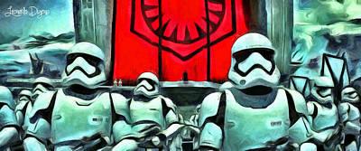 Ray Painting - Star Wars The Emperor by Leonardo Digenio