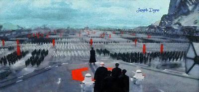 Army Digital Art - Star Wars The Empire - Da by Leonardo Digenio