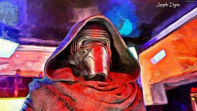 Of Painting - Star Wars The Kylo Ren Face by Leonardo Digenio