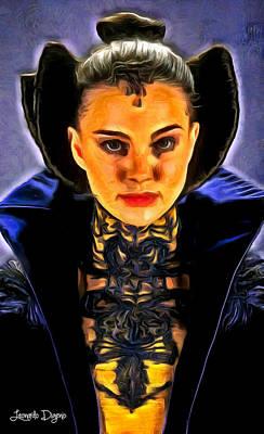 Natalie Portman Digital Art - Star Wars The Queen - Da by Leonardo Digenio