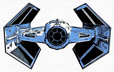 Star Wars Tie Fighter Advanced X1 Print by Edward Fielding