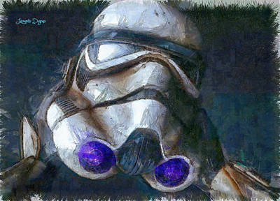 Air Force Digital Art - Star Wars Troop - Pa by Leonardo Digenio