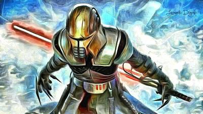 Fighter Digital Art - Star Wars Unleashed - Da by Leonardo Digenio