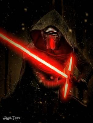 The Empire Strikes Back Digital Art - Star Wars Vii - Da by Leonardo Digenio
