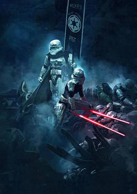Star Wars Vs Aliens 4 Art Print