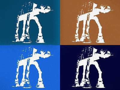 Mixed Media - Star Wars Walkers by Dan Sproul