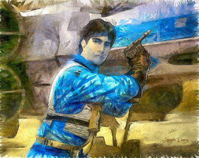 X Painting - Star Wars Wedge Antilles - Pa by Leonardo Digenio