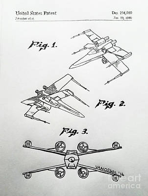 Star Wars X-wing 1980 Us Patent - Original Original