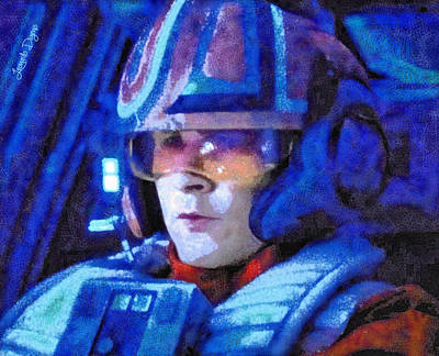 Cockpit Painting - Star Wars Yolo Ziff Rebel Pilot - Pa by Leonardo Digenio