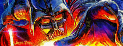 Vader Digital Art - Star Wars Your Turn - Da by Leonardo Digenio