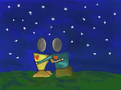 Digital Art - Star Watching by Haleh Mahbod