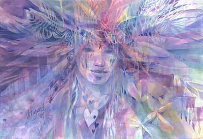 Painting - Star Woman by Carolyn Utigard Thomas