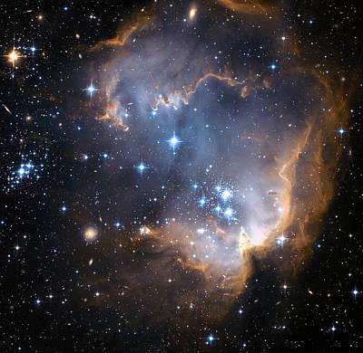 Stellar Photograph - Starbirth Region Ngc 602 by Hubble Heritage Teamnasaesastsciaura
