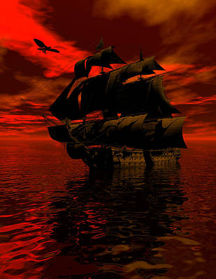 Tall Ship Digital Art - Starboard Tack by Claude McCoy