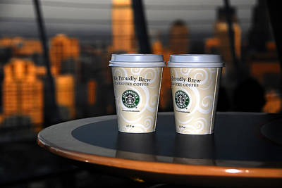 Starbucks Coffee Photograph - Starbucks At The Top by David Lee Thompson