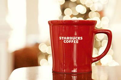 Starbucks Coffee Print by Kim Fearheiley