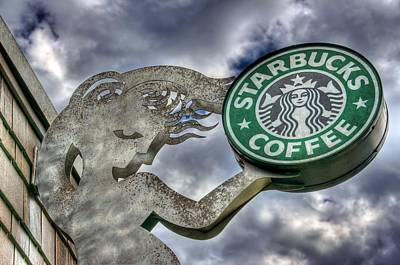 Starbucks Photograph - Starbucks Coffee by Spencer McDonald