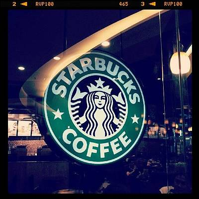 Yummy Photograph - #starbucks #coffee #yummy #tasty #green by Bryan Thien