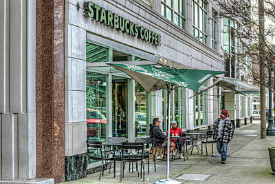 Photograph - Starbucks In The City by Spencer McDonald
