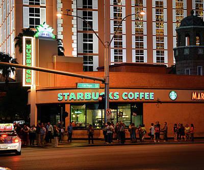 Photograph - Starbucks Las Vegas Blvd by David Lee Thompson