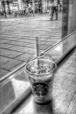 Photograph - Starbucks Liverpool 1 by Joan-Violet Stretch