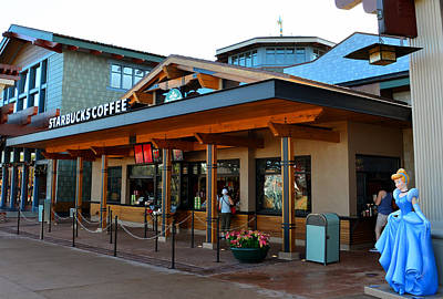Photograph - Starbucks Outdoor Store Disney Springs by David Lee Thompson